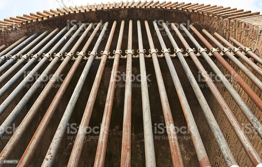 Grating in the Coliseum royalty-free stock photo