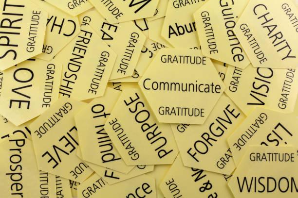 dankbarkeit attitude therapy cards - danke an lehrerin stock-fotos und bilder