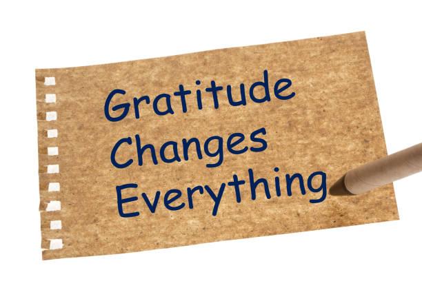 dankbarkeit verändert alles - danke zitate stock-fotos und bilder