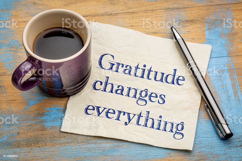 Gratitude changes everything stock photo