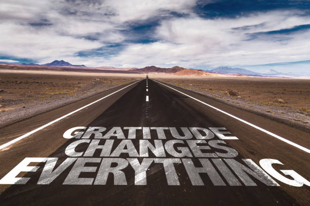 Gratitude Changes Everything sign stock photo