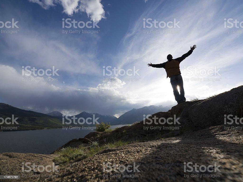 gratitude cliffs royalty-free stock photo