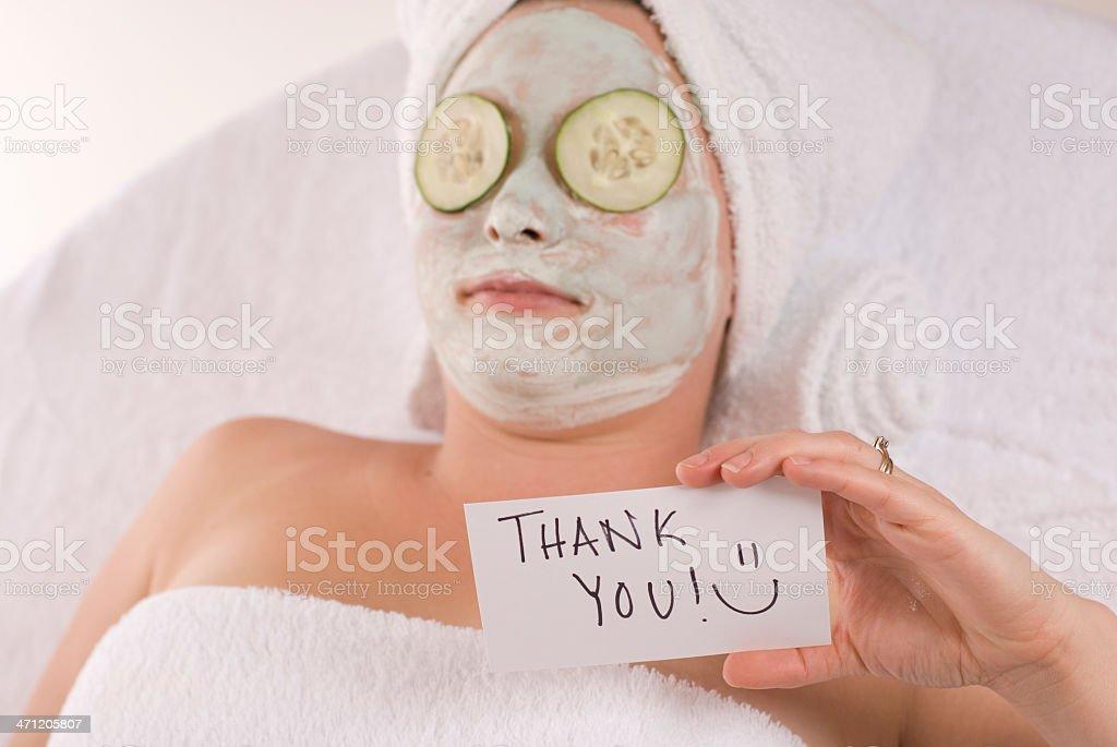 Gratitude For Beauty Treatment royalty-free stock photo