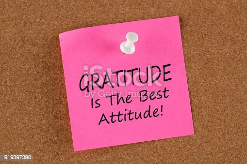 istock Gratitude Is The Best Attitude concept 919397390