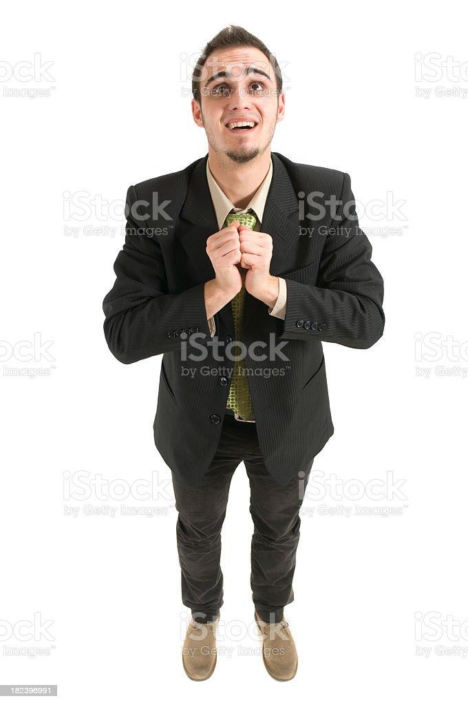 Gratitude of businessman royalty-free stock photo