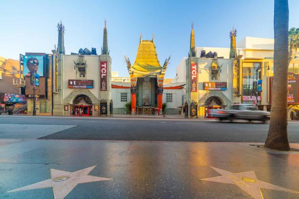 Teatro chinês de Grauman no distrito do bulevar de Hollywood em Los Angeles, Califórnia, EUA - foto de acervo