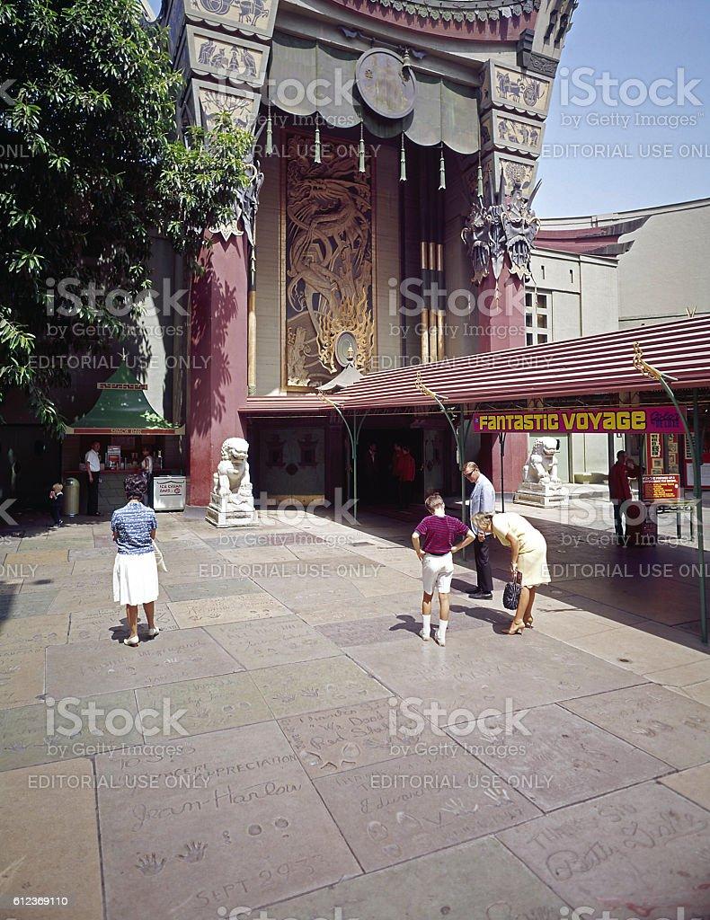 Grauman's Chinese Theatre 1966 stock photo