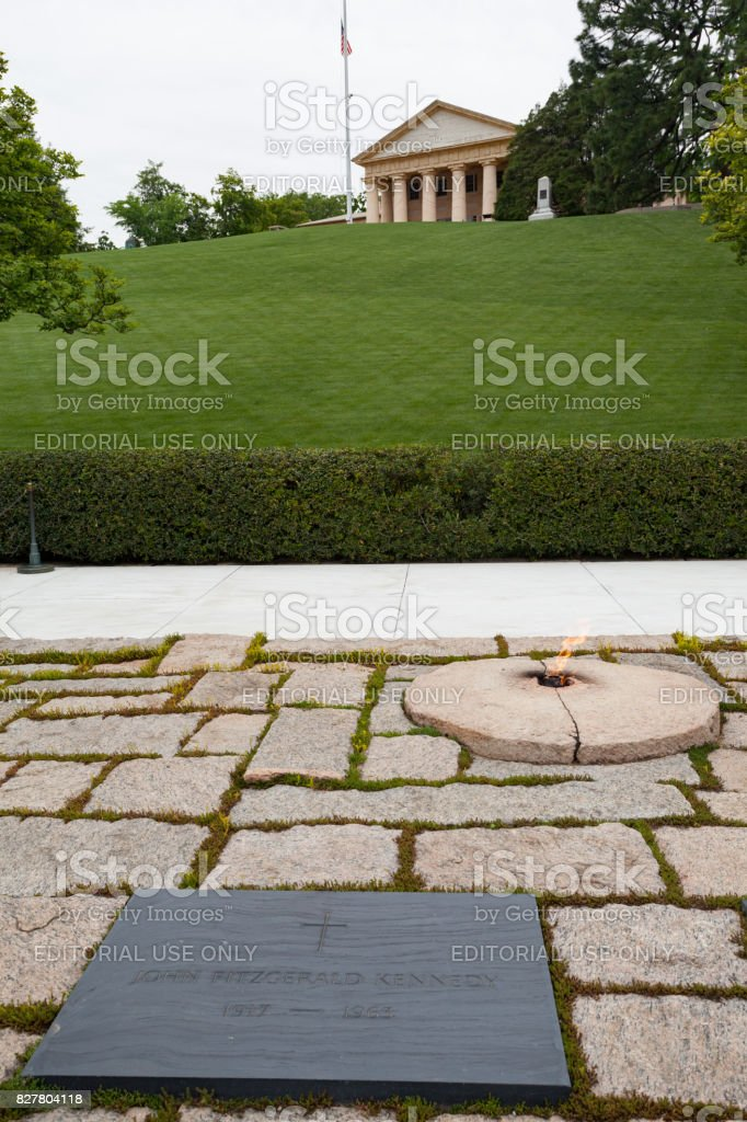 Jfk Grab Nationalfriedhof Arlington Virginia Usa Stock Fotografie
