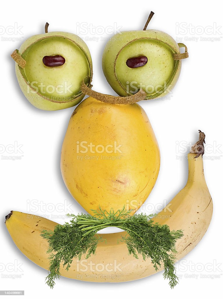 Grave face made of fruits royalty-free stock photo