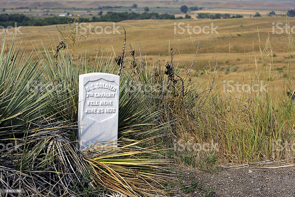 Grave Marker stock photo