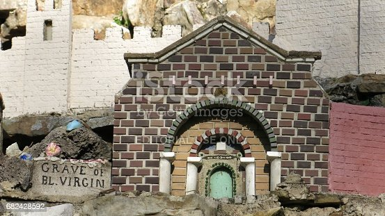 Miniature reproduction of the Grave of Blessed Virgin by Brother Joseph Zoettl (1878-1961), a Benedictine monk of St. Bernard Abbey in Cullman, Alabama at the Ave Maria Grotto.