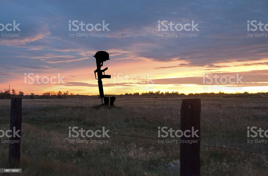 Grave of Fallen Soldier stock photo