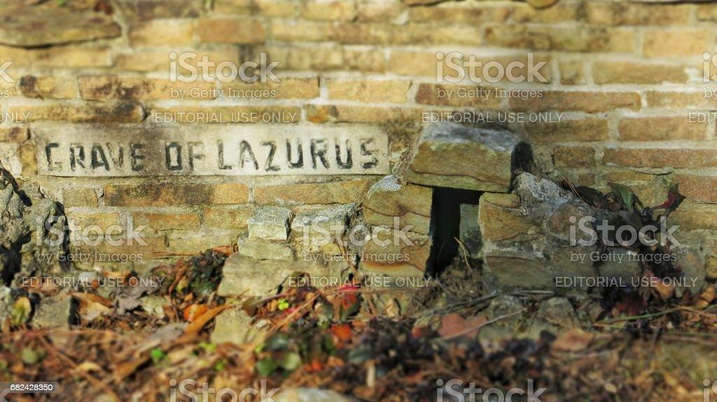 Grave of Lazarus Miniature Scene royalty-free stock photo