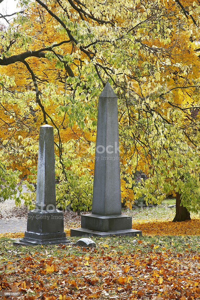 Grave Stones royalty-free stock photo