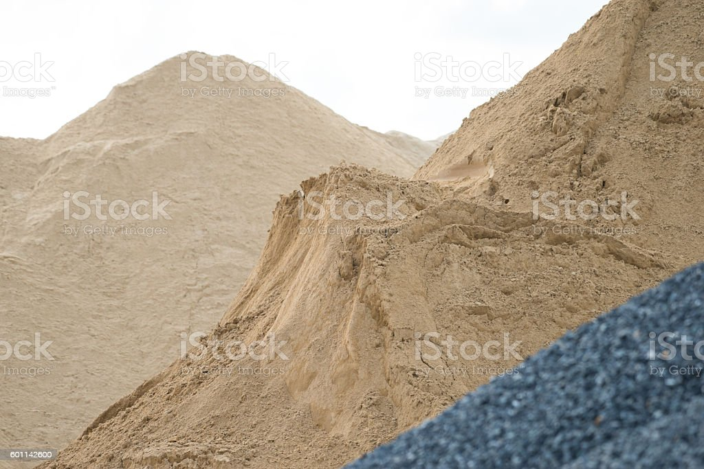 gravel and sand stock photo