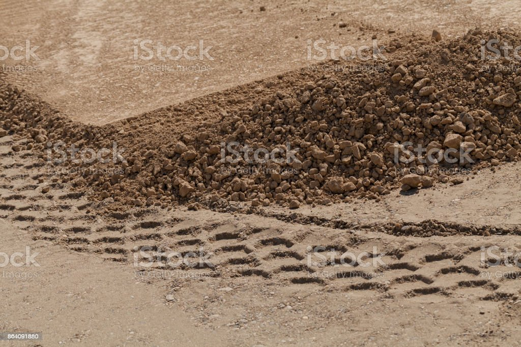 gravel and sand royalty-free stock photo