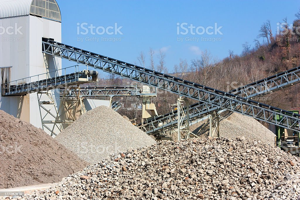 gravel and sand pit stock photo