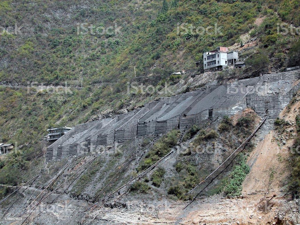 gravel distribution at Yangtze River royalty-free stock photo