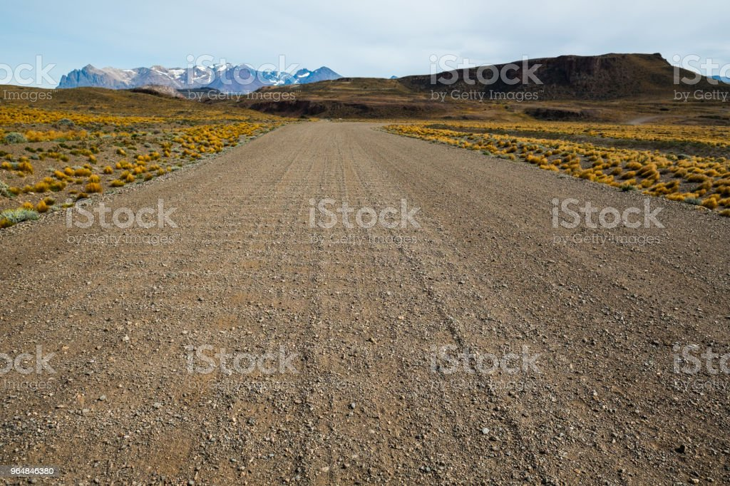 Gravel empty unnamed road royalty-free stock photo