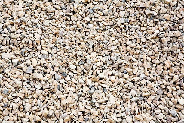 Gravel floor close up background stock photo