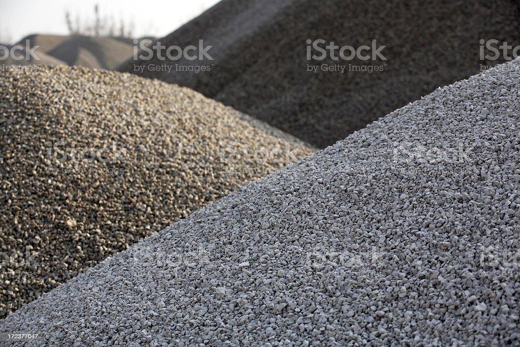 gravel hills stock photo