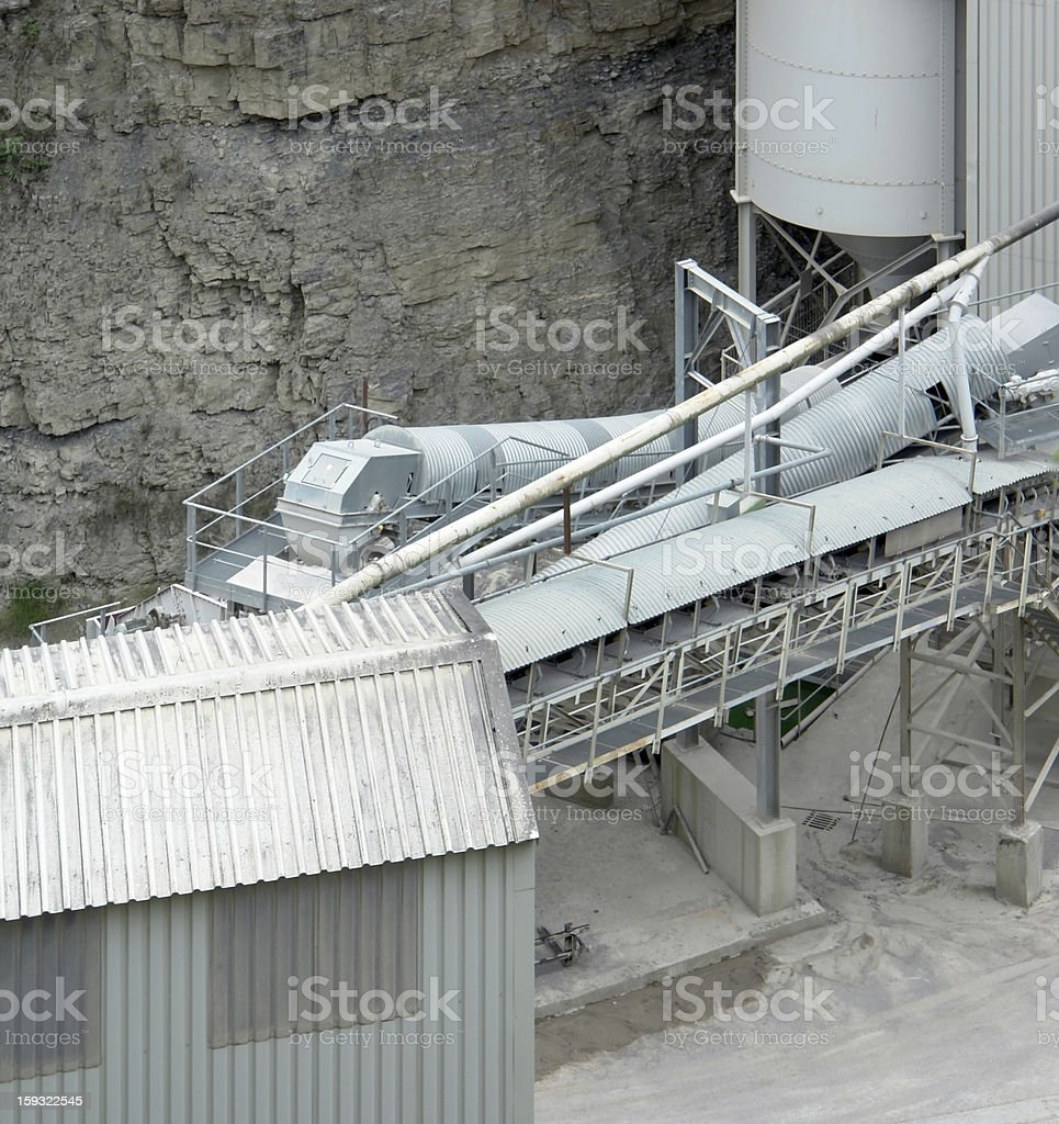 gravel mill detail royalty-free stock photo