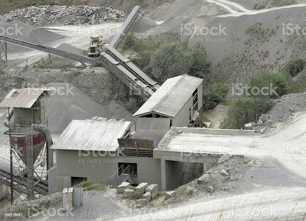 gravel mill detail stock photo