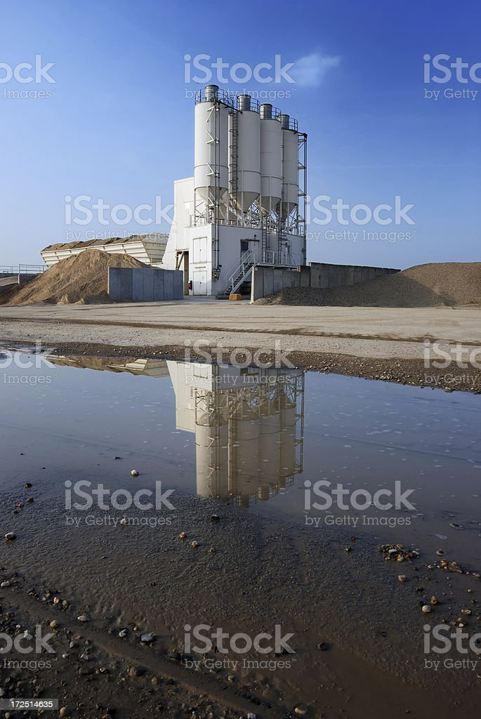 gravel mine in the puddle royalty-free stock photo