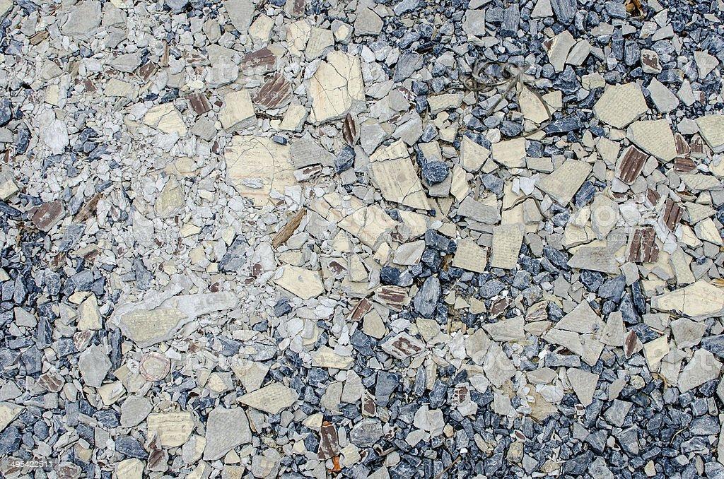 Ghiaia mix di texture di sfondo con crack con piastrelle foto di