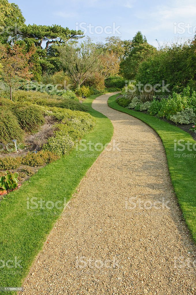Gravel path in English park royalty-free stock photo