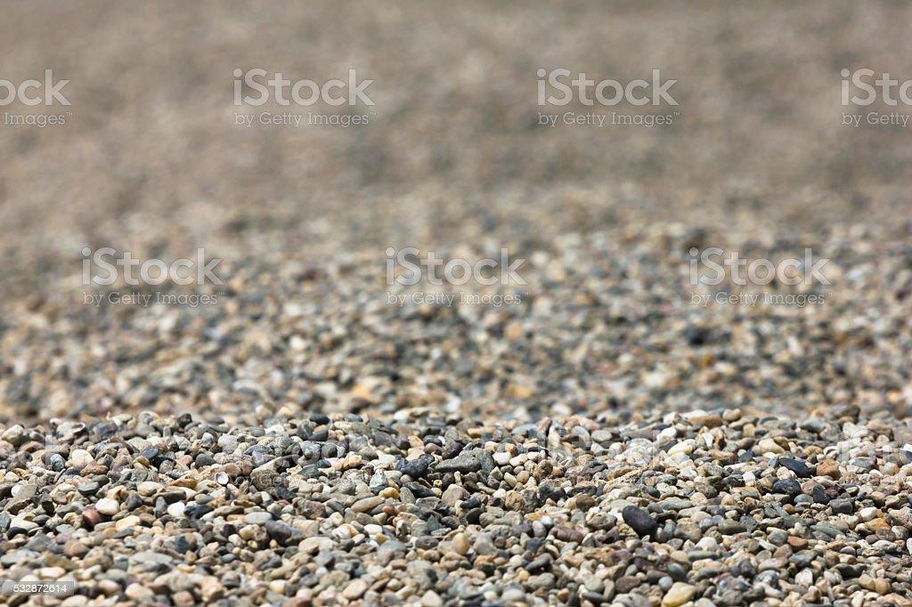 Gravel pile close up background stock photo