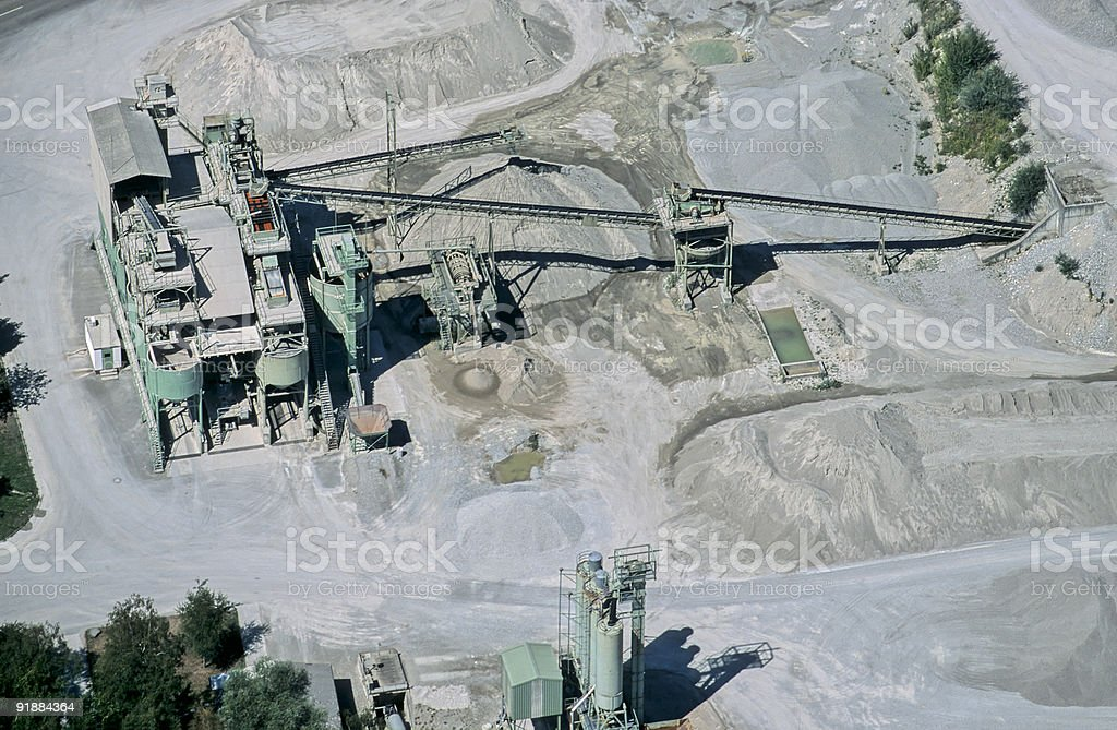 Gravel Pit Aerial View royalty-free stock photo