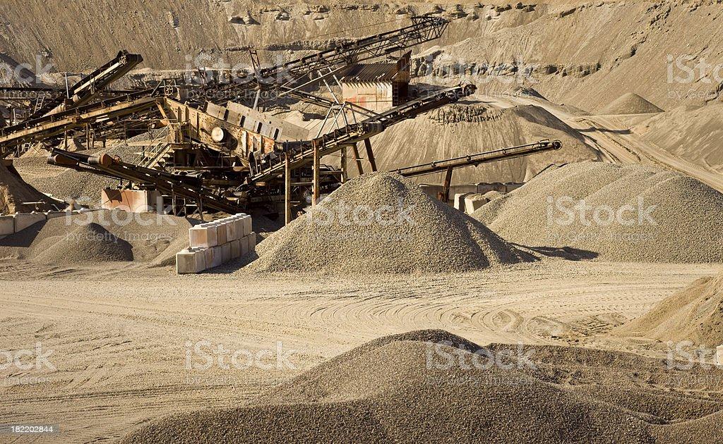 Gravel Pit Mine royalty-free stock photo