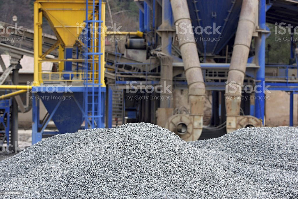 Gravel pits royalty-free stock photo