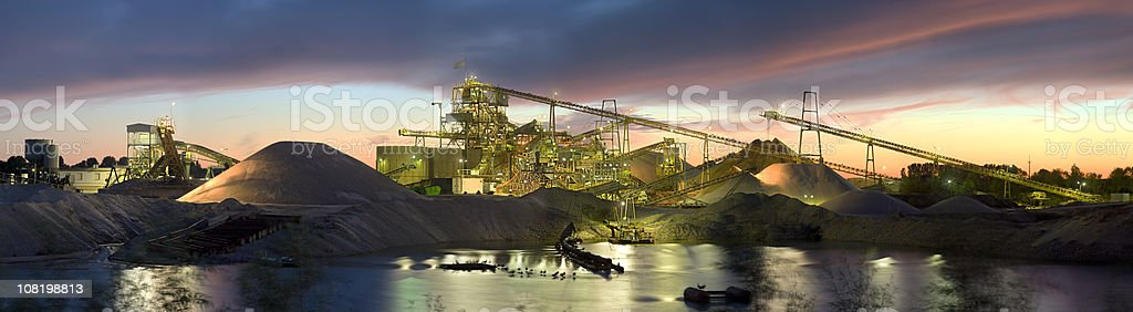 Gravel Plant Panorama stock photo