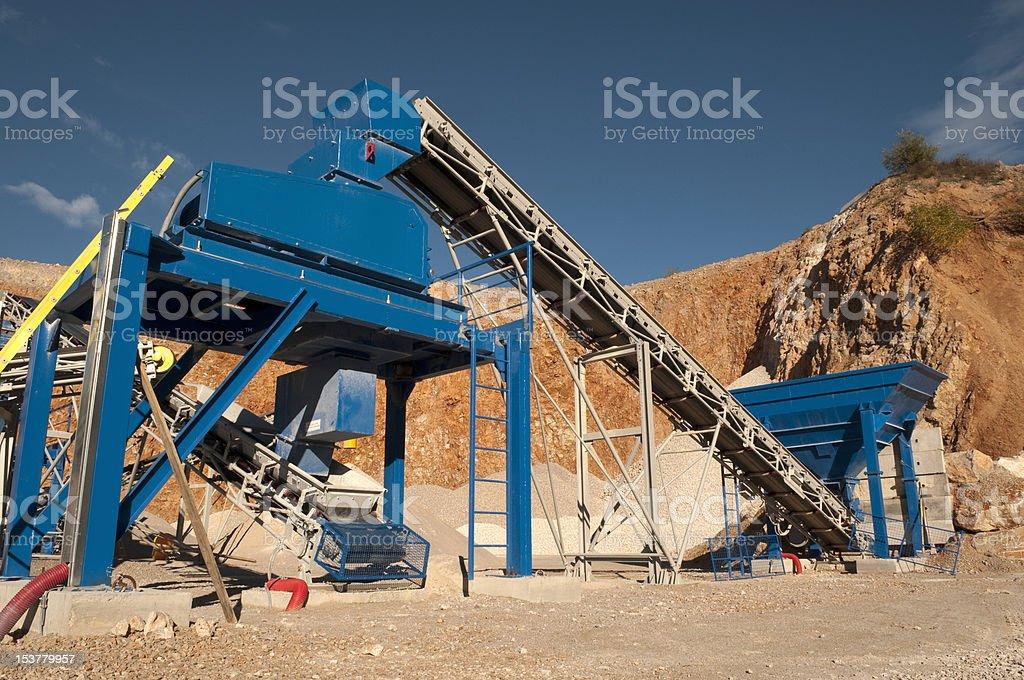 gravel quarry royalty-free stock photo