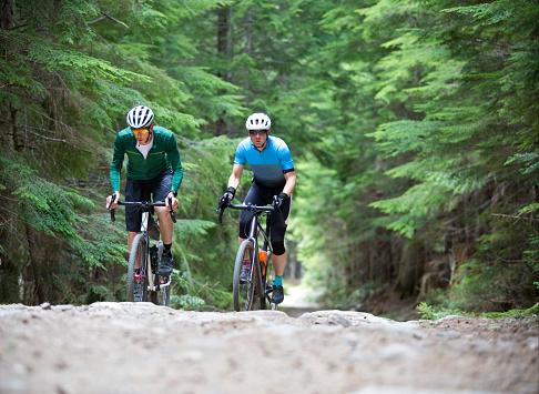 Gravel Road Bicycle Riders