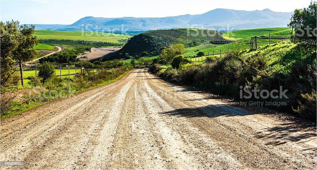 Gravel Road Downhill stock photo