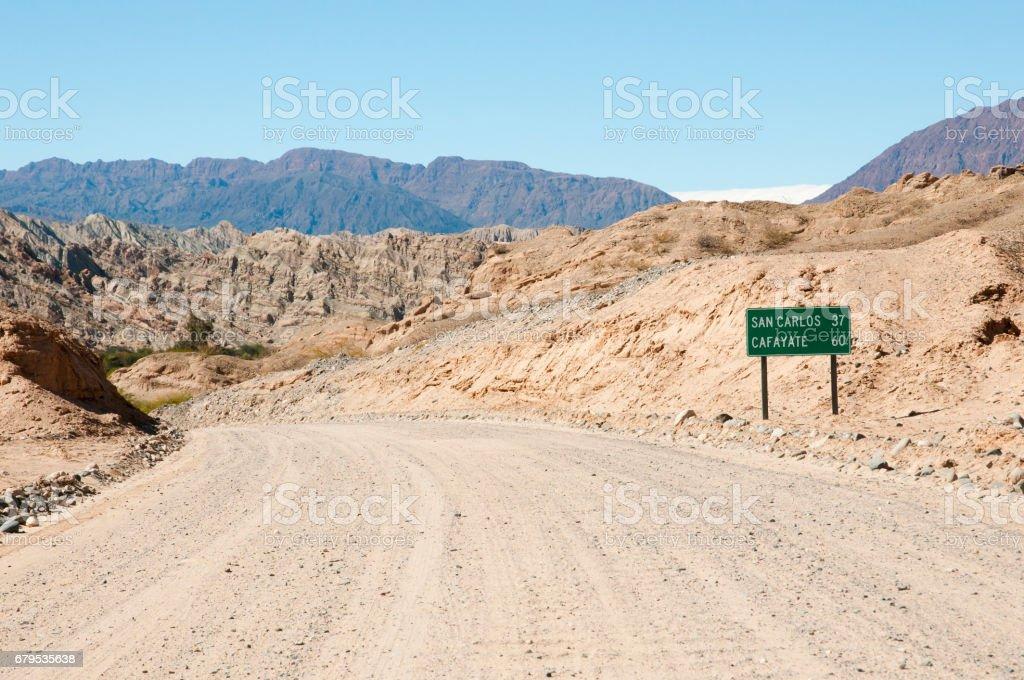 Gravel Road on Route 40 - Salta - Argentina stock photo