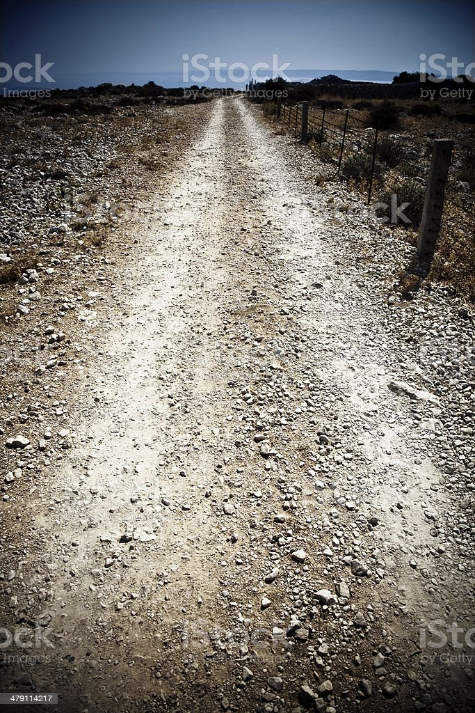 Gravel road royalty-free stock photo