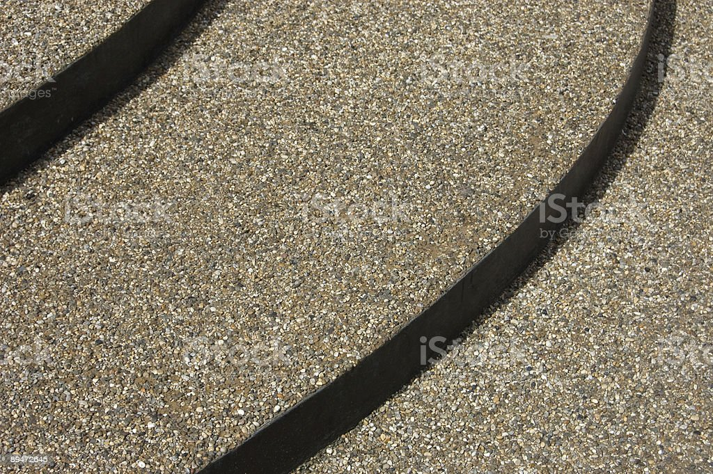 Gravel Steps royalty free stockfoto