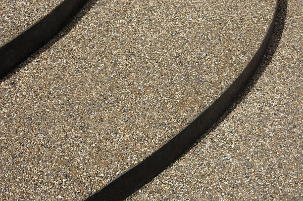 Gravel Steps stock photo
