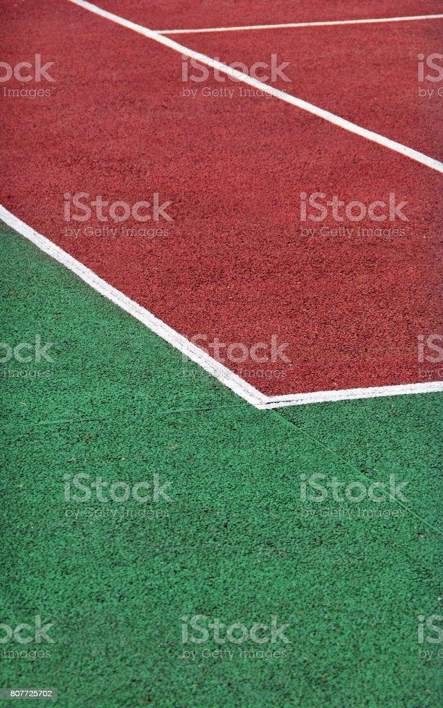 Gravel tennis playground stock photo