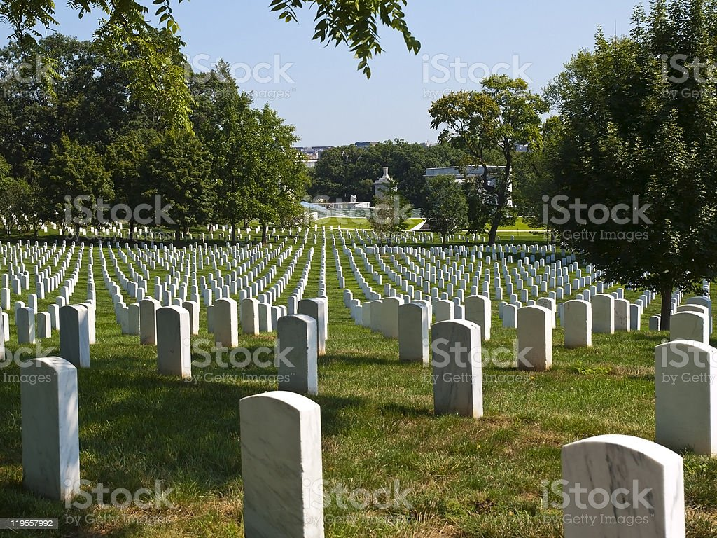 Graves in the Cemetery royalty-free stock photo