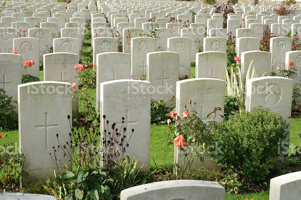 Graves of Unknown Soldiers, Flanders royalty-free stock photo