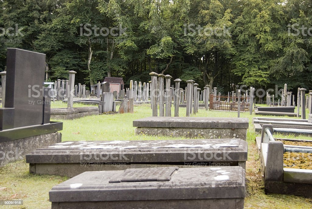 Graves on the Cemetery royalty-free stock photo