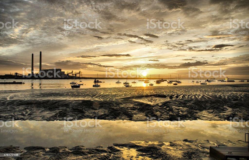 gravesend promenade sunrise stock photo