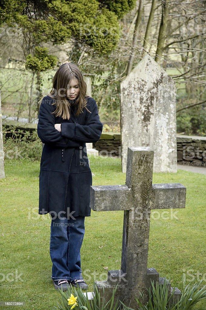 Graveside Loss royalty-free stock photo