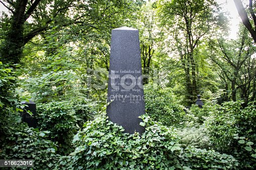 Jewish graveyard with star of David and trees. I took this photo of a jewish cemetery in my hometown Delden in the Netherlands. In this place there are not so many gravestones or tombstones on the graves. It looks more like a family graveyard in a forest. In world war 2 many jewish people were killed by the germans.