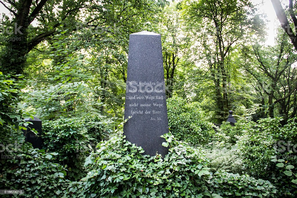 Gravestone at the old Cemetary stock photo